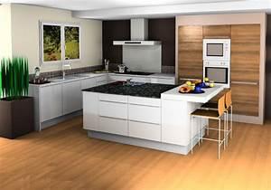 Plan De Cuisine 3d : cr er concevoir sa cuisine en 3d cuisines raison ~ Nature-et-papiers.com Idées de Décoration