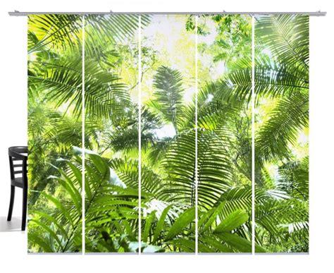 Fernwehkollektion Dschungel grün Flächenvorhang 5teiliges