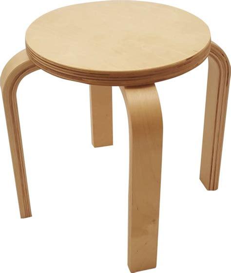 driepoot stoel hout great playwood houten kruk voor kinderen blank gelakt