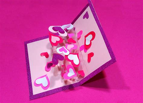 Valentine's Greeting Card With Hearts (transparent Acetate