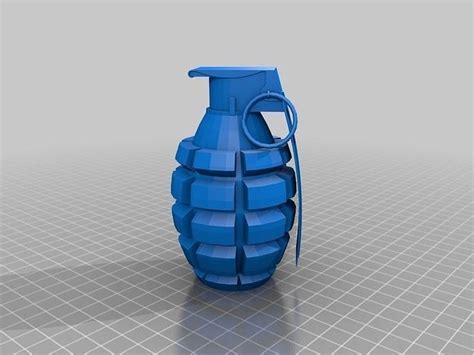 print model hand grenade repaired cgtrader