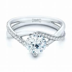 custom split shank diamond engagement ring 101751 With split shank wedding ring