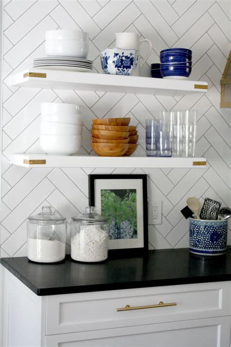 put  open kitchen shelves video emily  clark