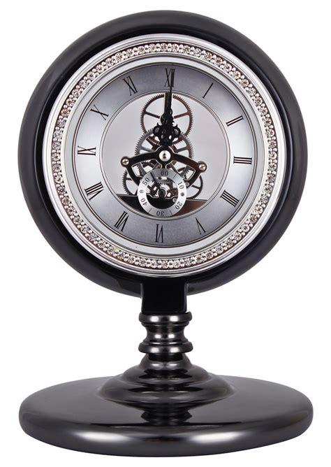 horloge de bureau horloge de bureau noir avec engrenages luxueuse retro