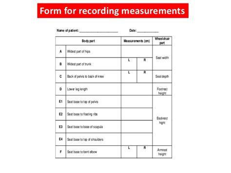 wheelchair cusion measurements for prescription of wheelchair