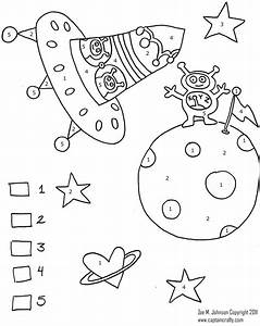 Super Fun Color By Number Sheet Zemu011b Space Preschool