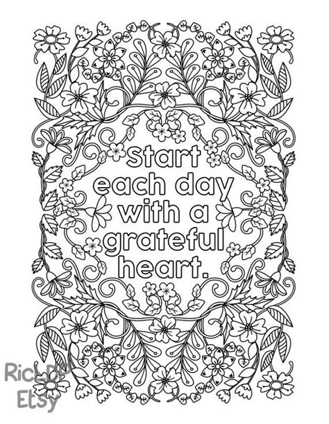 start  day   grateful heart adult coloring