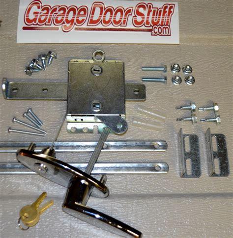 how to lock garage door garage door lock kit