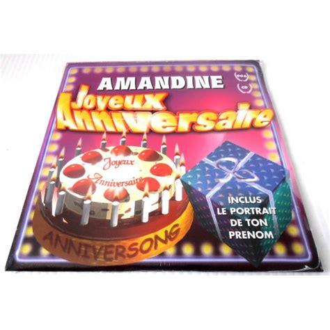 ton cuisine personnalisé fêtes anniversaire humour cd joyeux anniversaire prénom amandine neuf