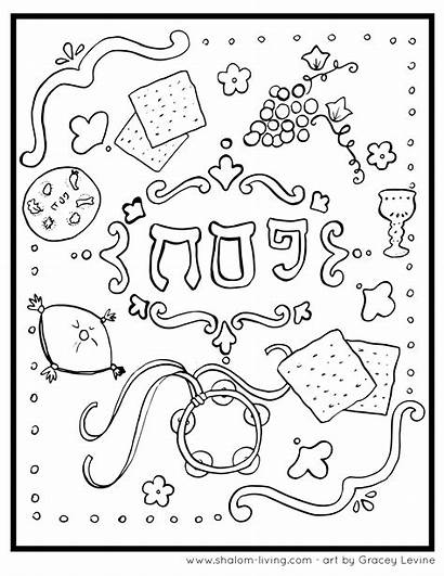 Passover Coloring Pages Sheets Happy Pesach Printable
