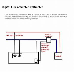 Digital Lcd Ac Ammeter Voltmeter Amp  End 7  8  2020 6 15 Am