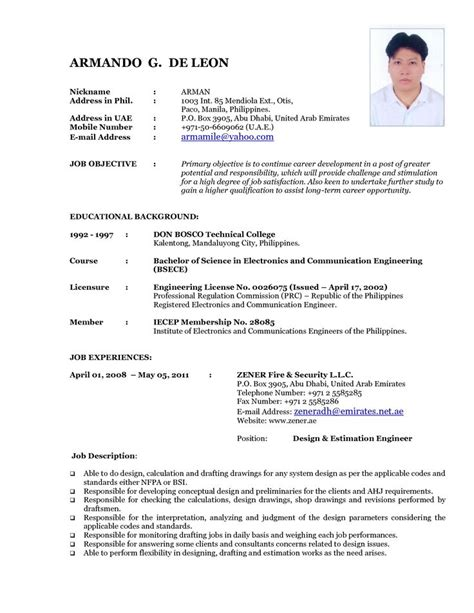 updated resume format 2015 updated resume format 2015