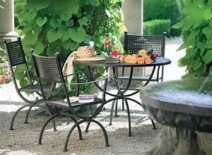 Gartenmöbel Tisch Metall : mbm tisch romeo 1m rund gartenm bel esstisch art jardin ~ Markanthonyermac.com Haus und Dekorationen