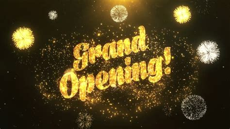 grand opening greeting card text stock footage video