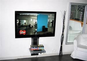 Meuble Tv Accroché Au Mur : accrocher tv au mur accrocher la tv au mur recherche google id es pour la accrocher tv au mur ~ Melissatoandfro.com Idées de Décoration