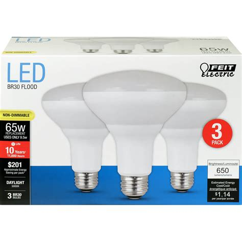 650 lumen 5000k non dimmable br30 led feit electric