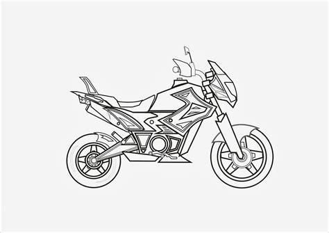 Desenhos de Motos para Colorir e Imprimir Desenhos