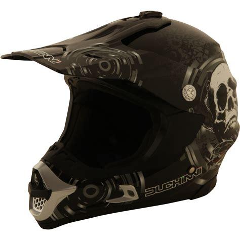 Duchinni D305 Skull Black White Motocross Helmet Mx Enduro
