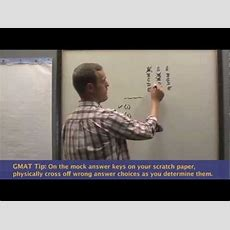 Gmat Time Management Tip How To Prepare Your Scratch Paper Youtube