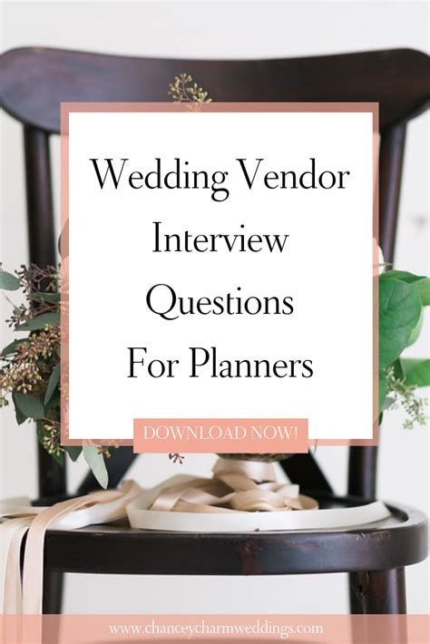 Wedding Vendor Interview Questions for Wedding Planners in