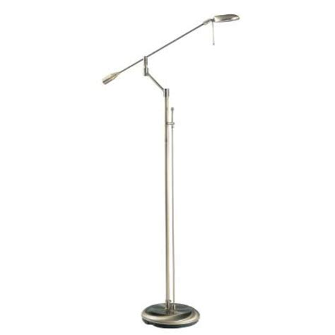 Halogen Floor Ls Home Depot by Designers Choice Collection 53 7 In Antique Brass Halogen