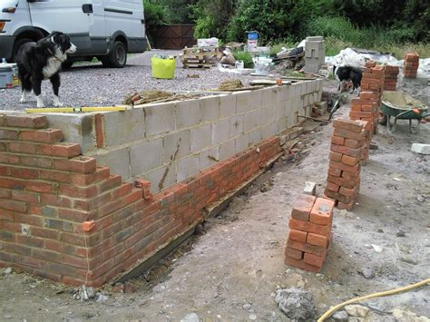 building a retaining wall brick garden wall retaining wall built by southton builder aspire building bricks and