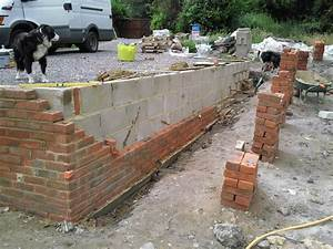 how to build a brick retaining wall farmhouse design and With building a garden wall with concrete blocks