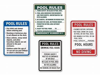 Pool Safety Rules Swimming Them