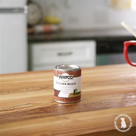 How To Seal & Stain Wooden Countertops  The Handmade Home