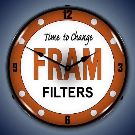 fram filters clock garage shop lighted clocks