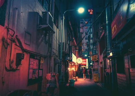 general  japan street neon   japan street