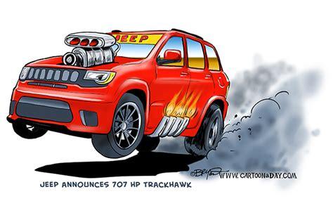 Jeep 707 Horsepower Trackhawk Cartoon