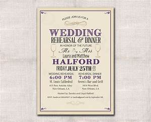 Wedding rehearsal dinner invitation custom printable for Wedding rehearsal email invitations