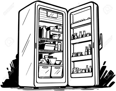 open fridge clipart black and white fridge clipart 5141 free clipart images clipartwork