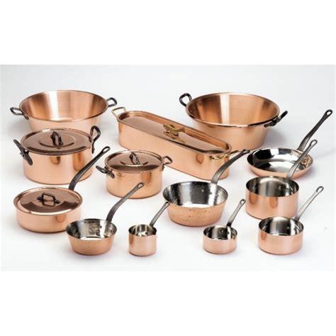 batterie cuisine cuivre s 233 rie de 5 casseroles en cuivre de marque baumalu