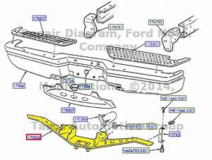 New Oem Rear Bumper Reinforcement Hitch Plate Ford F150 F250  F65z