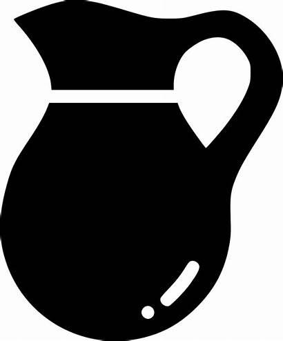 Pitcher Icon Water Svg Jar Jug Serve