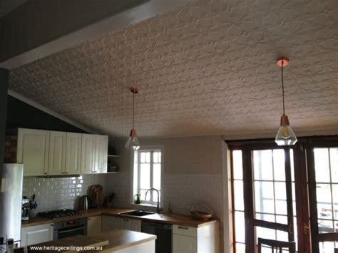 Pressed Tin Ceiling by Pressed Tin Ceiling Kitchen Renovation