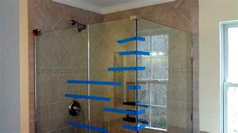 install frameless glass doors  tile shower youtube