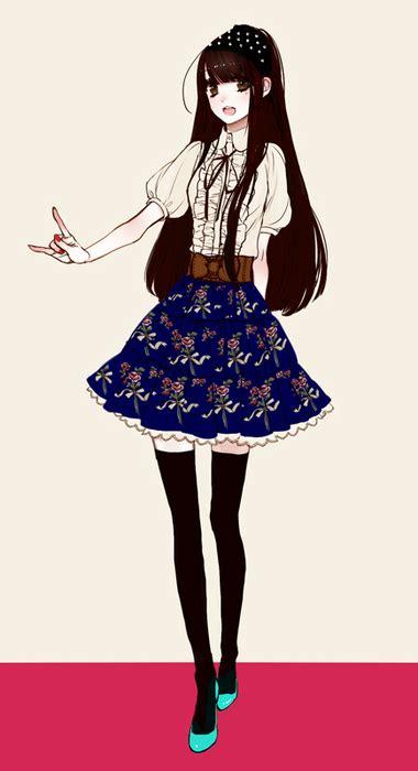 Anime art cute fashion girl - image #424861 on Favim.com