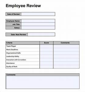 employee review template template business With employee performance reviews templates