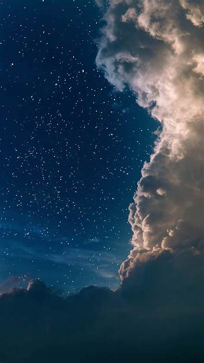 Clouds Sky Iphone Stars Space Wallpapers Iphones