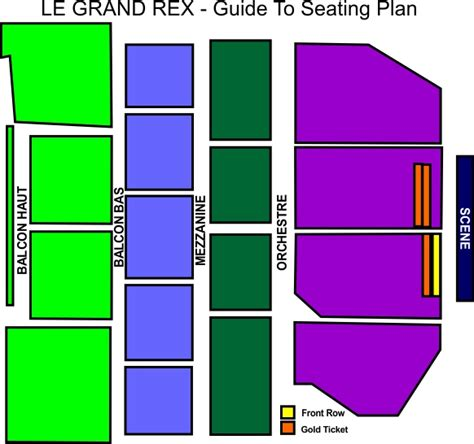grand rex plan salle le grand rex