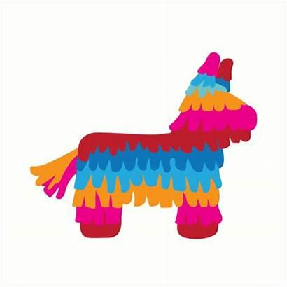 Pinata Redbubble Stickers Transparent Mexico Mexican Birthday
