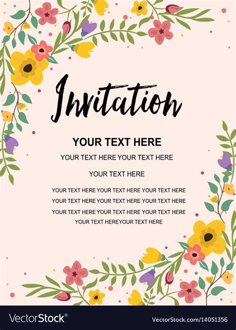 Template Invitation Card World of Reference