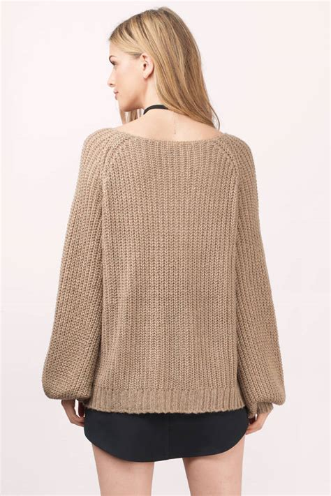 taupe sweater cheap taupe sweater beige sweater knitted sweater 54 00