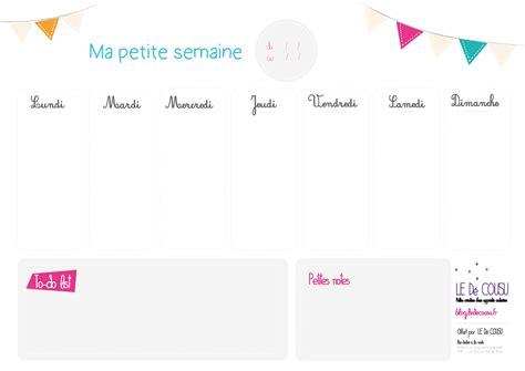 Semainier planning de semaine en pdf imprimable gratuitement. #Semainier vierge a imprimer (avec images) | Semainier à imprimer, Semainier, Planning semaine
