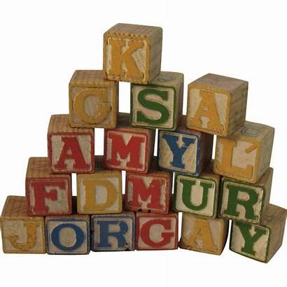 Blocks Alphabet Wood Children Ruby