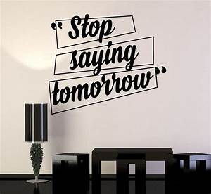 vinyl wall decal motivation quotes office home inspiration With name decals for walls inspiration