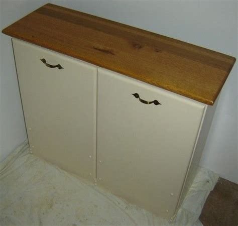 double trash recycling bin cabinet wood custom made new solid maple wood double kitchen garbage
